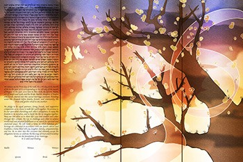 The Cher­ry Tree of Life Ke­tubah