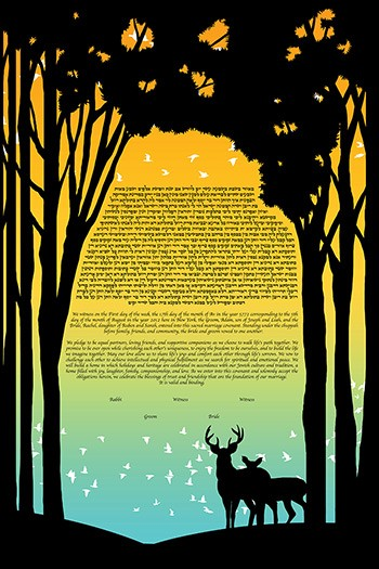 The Forest Keepers Ketubah