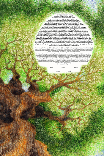 The Tree Love Ketubah